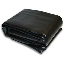 "7V Black Hood Fitted Pool Table Cover 53""x93"" Double Sewn Seams"