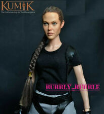 KUMIK Angelina Jolie Lara Croft 1/6 Head Sculpt For Hot Toy Phicen SHIP FROM USA