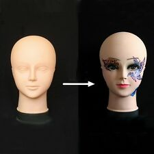 New Cosmetology Makeup Massage Training Mannequin Eyelash Lip Practice Doll Head