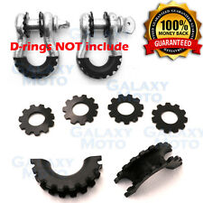 Black D-Ring Shackle Isolator & Washers 6pcs Set Rattling Protection Cover Kits