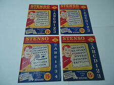 Stenso Lettering Guide 1956 lot of 4 Roman Gothic Vintage