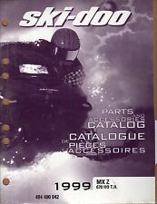 1999 SKI-DOO MX Z 670 HO T.H. SNOWMOBILE PARTS MANUAL P/N 484 400 042  (537)