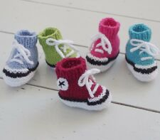 Baby Booties Trainers Knitting Pattern Sneakers Basketball Boots Free Chick Egg