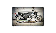 1968 Bridgestone 50Cc Bike Motorcycle A4 Retro Metal Sign Aluminium