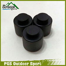 Paintball Gun CO2 HPA Tank Thread Saver Protector Aluminum Black(3pcs/pack )