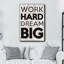 "Quote ""Work Hard, Dream Big"" - Canvas Art Home Decor - 12x18 inches"