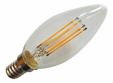 2 x E14 SES 240V 4W 350LM WARM WHITE LED FILAMENT RETRO DESIGN CANDLE BULBS ~40W