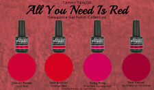 "BRAND NEW ""ALL YOU NEED IS RED"" 4 BEAUTIFUL GELEGANCE GEL POLISH COLORS"