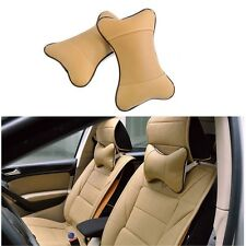 New Car Auto Seat Head Neck Rest Leather Cushion Pad HeadRest Bone Travel Pillow