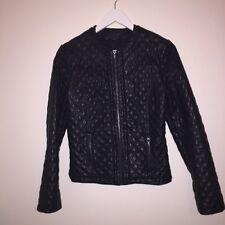 Select Ladies Leather Biker Jacket Size 6/8