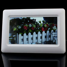 7'TFT LCD Digital Photo Frame Alarm Clock Support U SD MMC MS USB Excellent