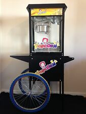 POPCORN MACHINE & CART - BRAND NEW - PARTY WEDDING - BLACK!!!
