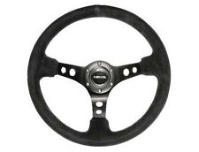 NRG Steering Wheel 350mm 06 Black Suede Deep Dish w/ BLACK Stitching