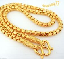 Men's Chain 23K 24K Thai Baht Gold GP Necklace 26 Inch 78 Grams Jewelry N 480