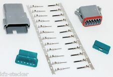 AMPHENOL AT Serie Deutsch Stecker Set Kit 12-polig Steckverbinder Wasserdicht