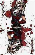 Suicide Squad Harley Quin Joker Playing Card Sticker Decal