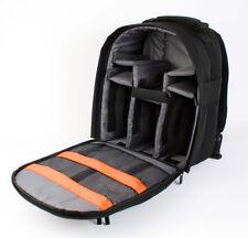 Sac à dos noir compatible avec appareil photo reflex Nikon D5300, Sony A7