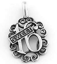 STERLING SILVER SWEET 16 CHARM  PENDANT