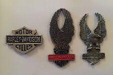 Lot de 3 PIN'S PIN PINS MOTO HARLEY DAVIDSON MOTOR CYCLES