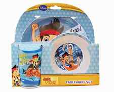 Jake and The Neverland Pirates Boys 3-Piece Tableware Set - Plate Bowl Tumbler