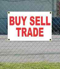 2x3 BUY SELL TRADE Red & White Banner Sign NEW Discount Size & Price FREE SHIP