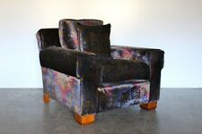 "Rare Sublime Ralph Lauren ""Club"" Armchair in Paisley Velvet – 2 Available"