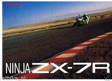 K018 BROCHURE KAWASAKI  NINJA ZX-7R, PROSPEKT,FOLDER DUTCH 8 PAGES MOTO