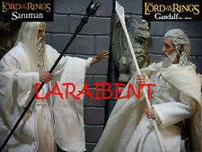 LOTR STAFF OF GANDALF THE WHITE & STAFF OF SARUMAN BLACK (Lord of the RINGS)