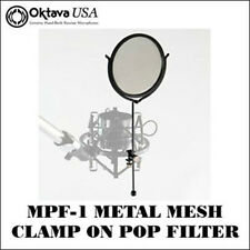 Oktava MPF-1  -  Metal Mesh Clamp-On Pop Filter - Reduce P-Pops - Stops Spittal