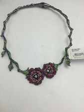 $95 Betsey Johnson Rose Pave Collar Necklace