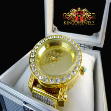 Men New 1 Row Iced Out Bezel Diamond Maxx Jojino Joe Rodeo Genuine Diamond Watch