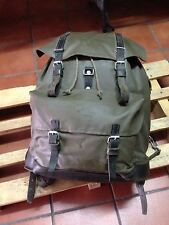 Swiss Army 1984 Military Waterproof Leather Canvas Backpack Rucksack Vintage