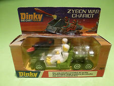 DINKY TOYS 361 ZYGON WAR CHARIOT - GREEN + WHITE - RARE SELTEN - GOOD COND.