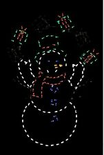 Snowman Juggling Gifts 6 Feet LED Christmas Yard Decor Wire Animotion Control