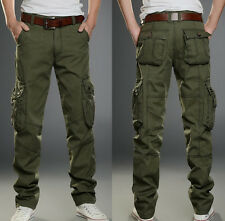 Mens Motorcycle Pants Tactical New Overalls Leisure Cargo Pocket Combat Trousers