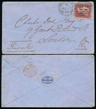 GB QV 1859 MICHELDEVER STATION DUPLEX on BLUE ENVELOPE NORTHBROOK FLAP