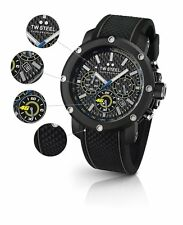 TW Steel VR46 Men's 48mm Chrono Black Carbon Dial & Rubber Strap Watch TW937