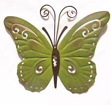 Butterfly Hand Painted Metal Wall Art Yard & Garden Home Decor (B)