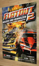 FlatOut 2 rare Promo Poster Playstations 2 PS2 Xbox 84x59cm