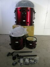 Pearl Forum 3 Piece Drum Kit Shell Pack - Red Wine With Black Hardware - Poplar
