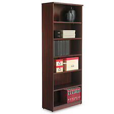 Valencia Series Bookcase, Six-Shelf, 31 3/4w x 14d x 80 3/8h, Mahogany