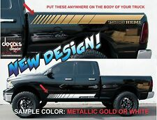 Rocker Panel Stripes Vinyl Graphics DODGE RAM HEMI REBEL 1500 Freshly Cut!