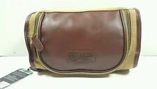 PENGUIN Munsingwear Men's Toiletry Travel Shave Kit Case Bag Brown Khaki
