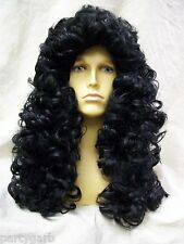 Black Pirate Captain Wig King Charles Vampire Historical Renaissance Count Hook