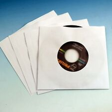 "100 White Polylined 7"" 45rpm/45 rpm/Single Sleeves Vinyl Record inner Poly-lined"