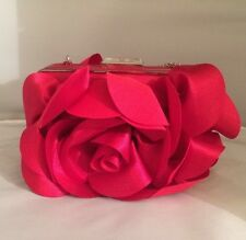 Euc White House Black Market Red Satin Bag