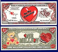 (5) BE MY VALENTINE Dollar Bills SWEETHEART NOVELTY Collectible-- MONEY- ITEM -R