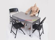"New 1/6 Scale Furniture Table &  4 Chair For Barbie Doll & 12"" Action Figures"