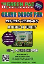 Green Pad Co2 Generator Grand Daddy Pad, 2 Pack No Co2 Regulator or Tanks Needed