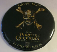 Disneyland Pirates of the Caribbean 50th Movie Opening May 26 2017 Disney Button